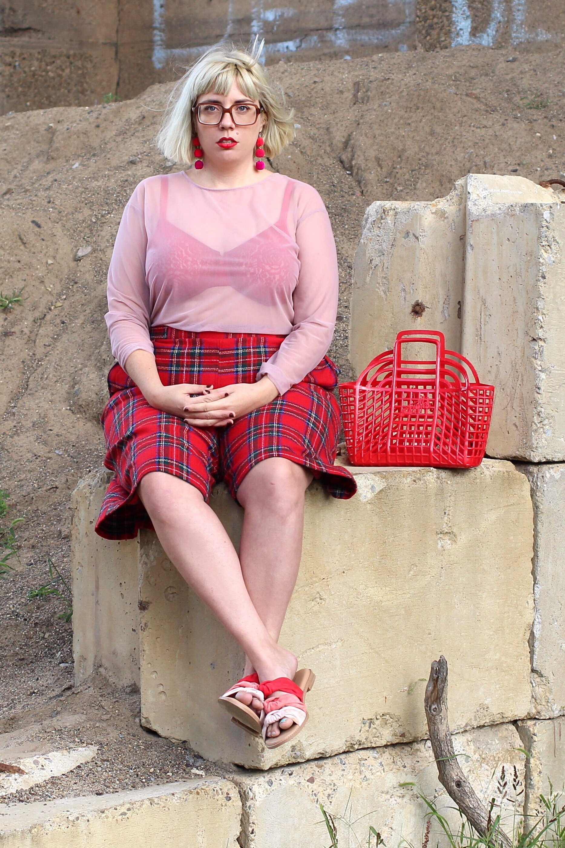 Universal Standard paired with vintage culottes.