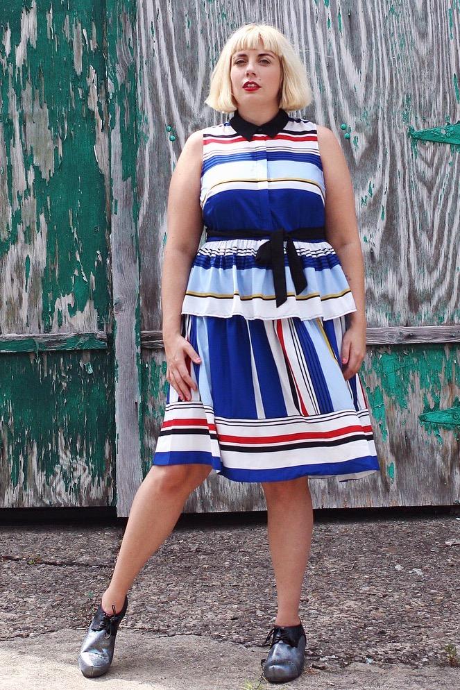 Striped Dress plus size