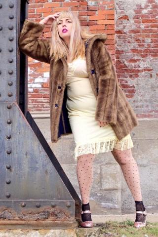 Plus Size Grunge faux fur