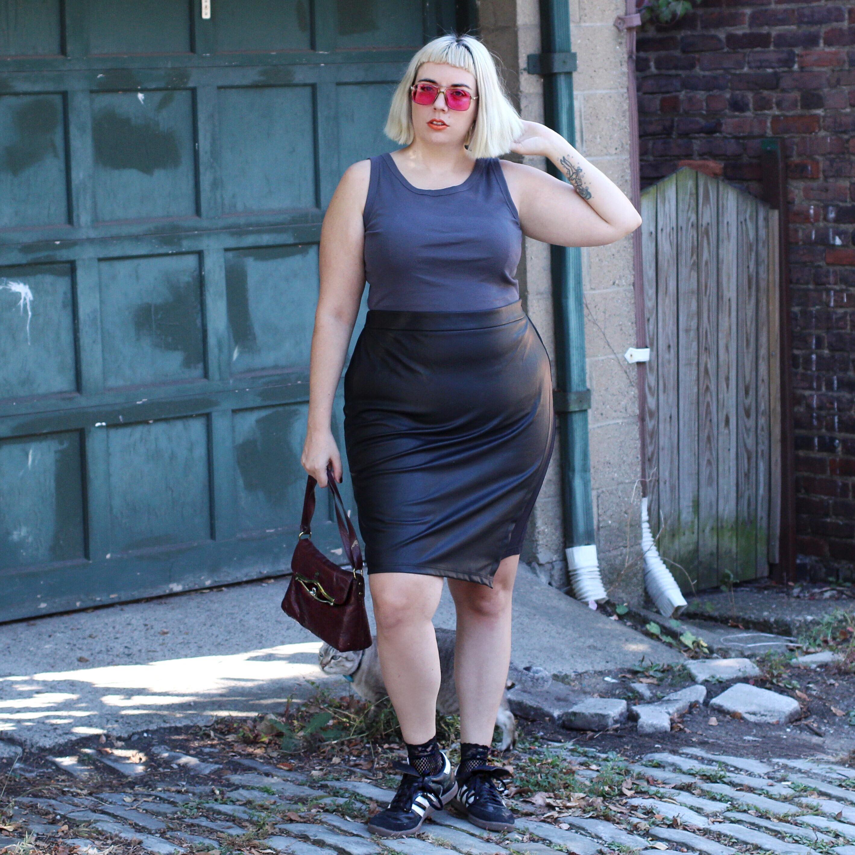 Universal Standard Leatherette Skirt