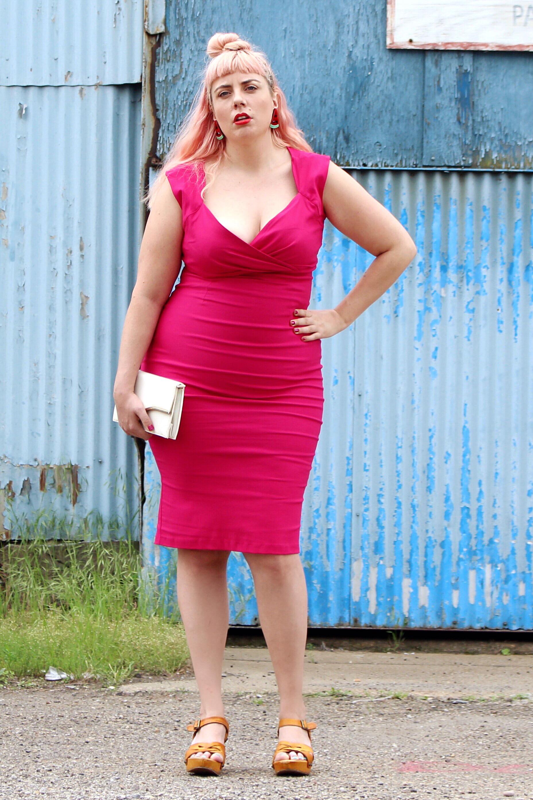 Plus Size Pinup Girl Clothing Dress